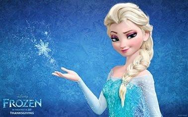Frozen elsa painel em lona para festa infantil