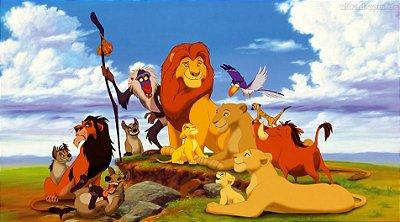 Painel para decoração de festa infantil  - Rei Leão