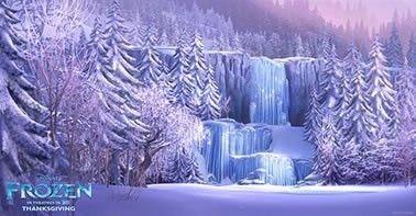 Painel de Aniversario Frozen Fundo em Paisagem