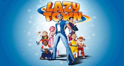 Painel para decoração de festa infantil  -  LazyTown