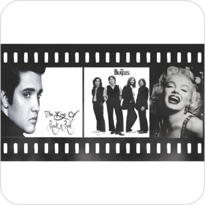 Painel de Festa Infantil Anos 60, 70, 80 e 90 - Presley, Beatles & Monroe
