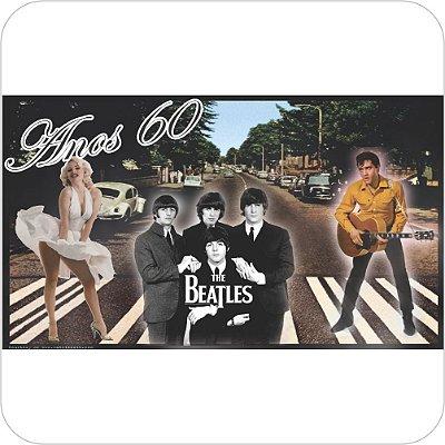 Painel de Festa Infantil Anos 60, 70, 80 e 90 - Monroe, Beatles & Presley