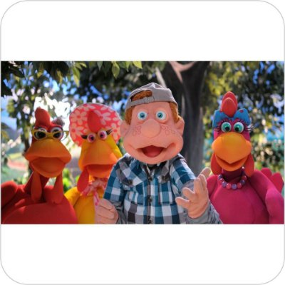 Painel de Festa Infantil Cocoricó - Júlio, Lola, Lilica e Zazá