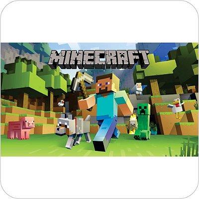 Painel de Festa Infantil Minecraft Capa do Jogo