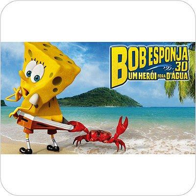 Painel de Festa Infantil Bob Esponja 3D - Caranguejo