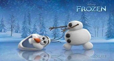 Desenho frozen Olaf painel infantil