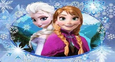 Painel de Festa Frozen - Elsa e Ana