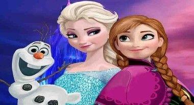 Aniversário Frozen Olaf Elsa e Ana fundo azul e rosa
