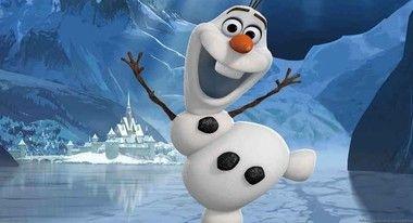 Painel de Aniversario Frozen Olaf Fundo Azul