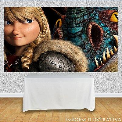 Painel de Festa Infantil Como Treinar Seu Dragão - Astrid e Dragão