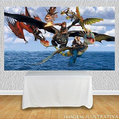 Painel de Festa Infantil Como Treinar Seu Dragão - Dragões