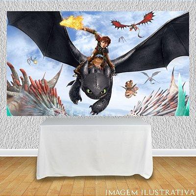 Painel de Festa Infantil Como Treinar Seu Dragão - Soluço e Banguela III
