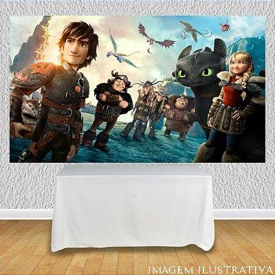 Painel de Festa Infantil Como Treinar Seu Dragão - Capa do Filme