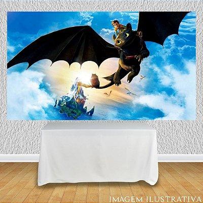 Painel de Festa Infantil Como Treinar Seu Dragão - Voando II