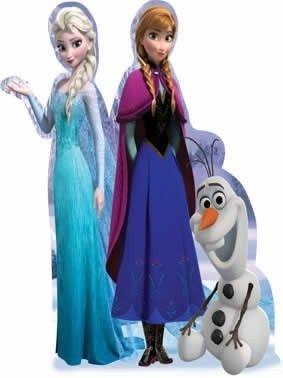 Elsa, Ana e Olaf cenário de mesa ou chão
