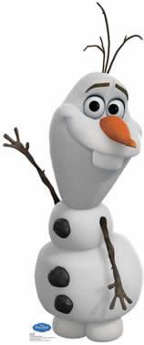 Painel de Aniversario Frozen Olaf