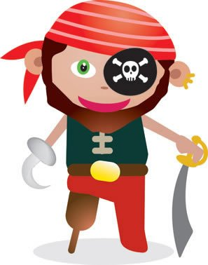 Totens - Displays - Piratas Cartoon