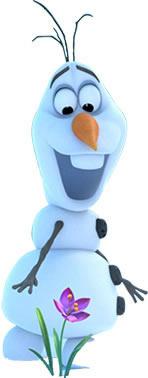 Decoração de mesa Olaf Frozen para festa infantil