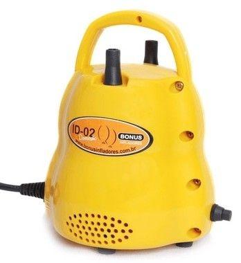 Inflador Para Balões ID-02 Doméstic 110v Amarelo