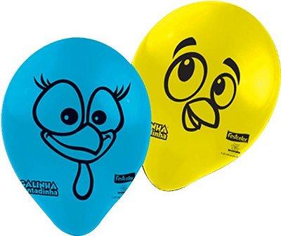 Balão de Látex Galinha Pintadinha Parabéns 25 unidades|Festcolor