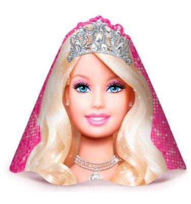 Chapéu de Aniversário Barbie 08 unidades Festcolor