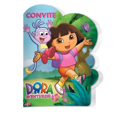 Convite de Aniversário Dora a Aventureira  08 unidades|Festcolor