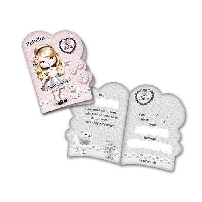 Convites Jolie - embalagem com 8 unidades | Festcolor