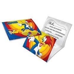 Convites pica - pau - embalagem com 8 unidades | Festcolor