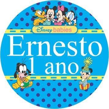 60 Rótulos adesivos para lembrancinha | Baby Disney
