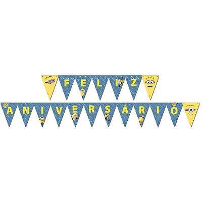 "Faixa Minnions ""Feliz Aniversário"" | Festcolor"