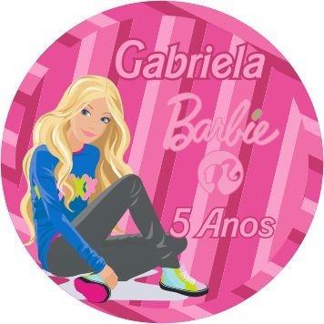 60 Rótulos adesivos para lembrancinha | Barbie 03