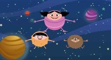 Painel de festa show da luna no espaço