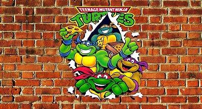 Painel para decoração toda turma - Tartarugas Ninjas