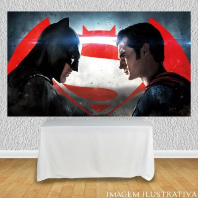 Painel de Festa Infantil Batman vs Superman