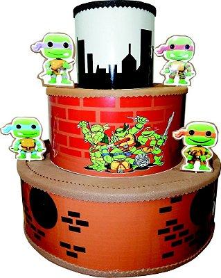 Bolo Cenográfico Tartarugas Ninjas