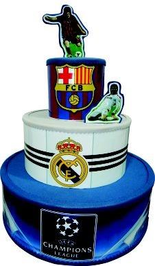 Bolo Cenográfico Times  Barcelona Real Madrid