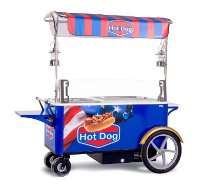 Carrinho Gourmet para Hot Dog