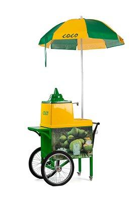 Mini Carrinho de coco verde