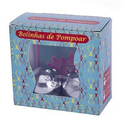 Kit Bolinha de Pompoar Cromada 2 Unidades - Pau Brasil