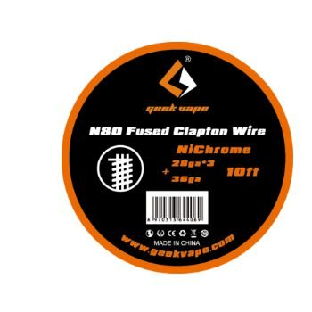 Fio para Resistência Geek Vape N80 Fused Clapton Wire