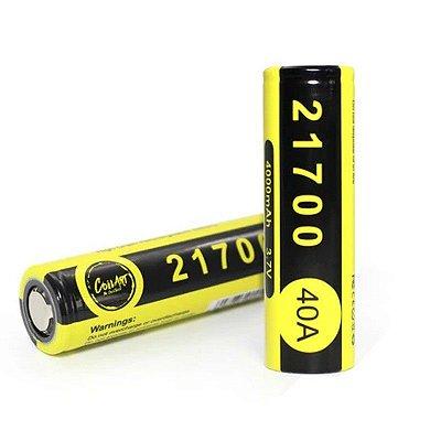 Bateria CoilArt 21700 Li-Ion 3.7V 4000mAh 40A Flat Top (Unidade)
