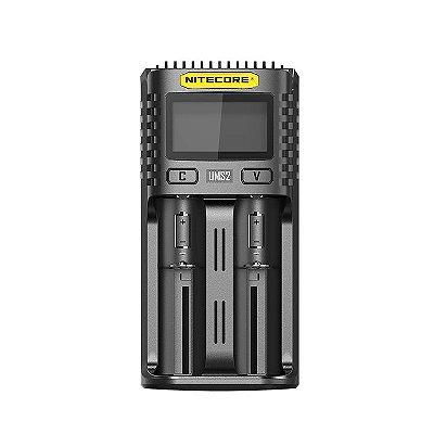 Carregador Baterias NITECORE UMS2 USB para 2 Baterias