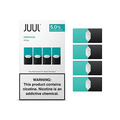 JUUL Pod (Cartucho) para Pod System CLASSIC MENTHOL (4 Unidades)