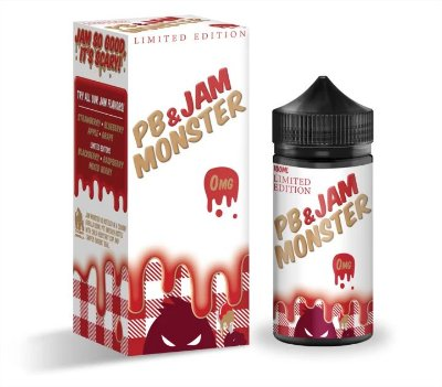 E-Liquido JAM MONSTER PB & Jam Monster Strawberry 100ML