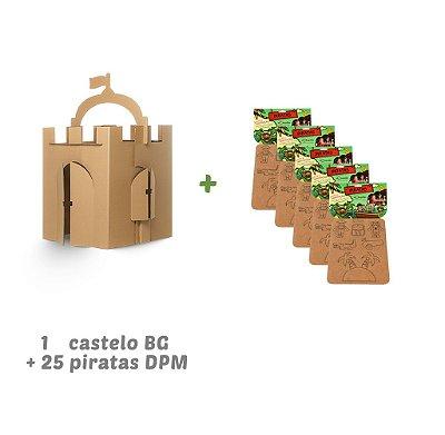 Kit Castelo + 25 piratas