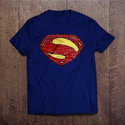 Camiseta Superman Man of Steel Vintage Logo