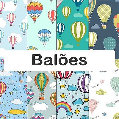 Tecido impermeável PUL Estampado - Balões