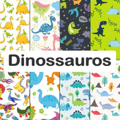 Tecido impermeável PUL Estampado - Dinossauros