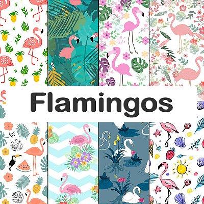 Tecido Impermeável PUL Estampado - Flamingos