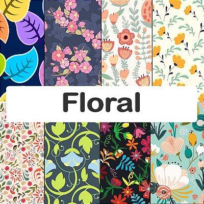 Tecido impermeável PUL Estampado - Floral